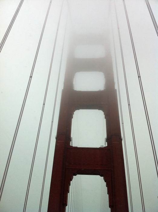 golden gate bridge, san francisco, sf, fog