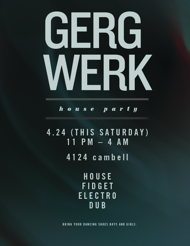 gergwerk flyer, design
