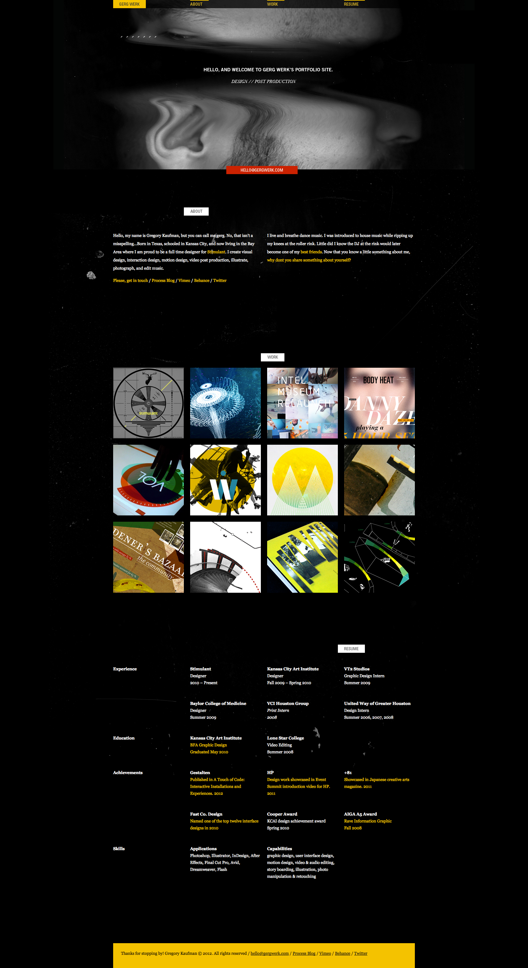 gergwerk website design 2012