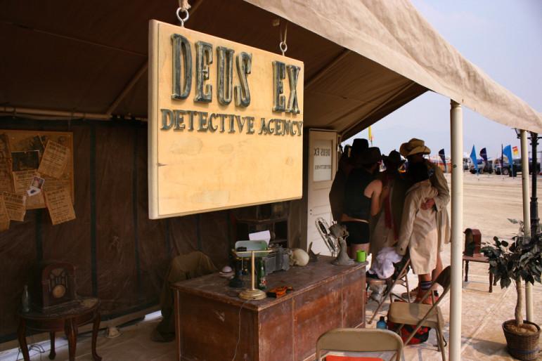 Deus Ex detective tent