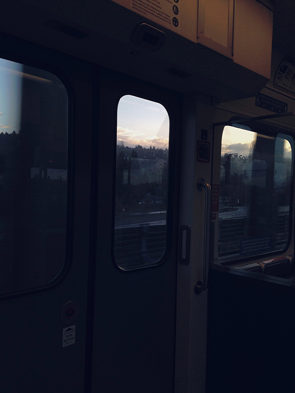 link, light rail, seattle, morning