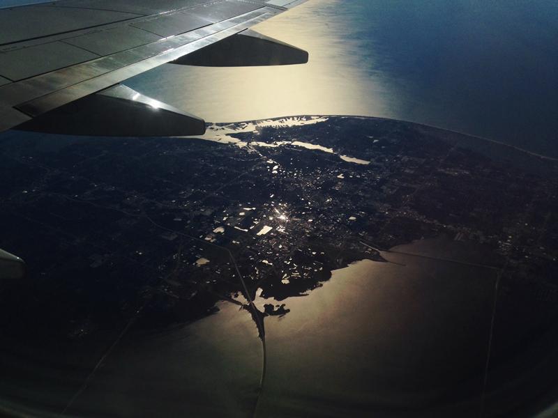 plane view over florida