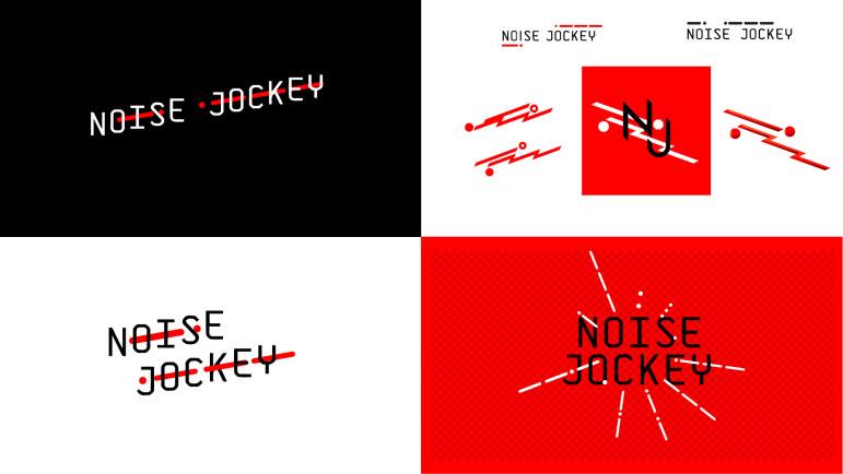 noise jockey logomarks, logo
