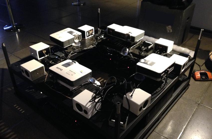 decibel cube build process projectors
