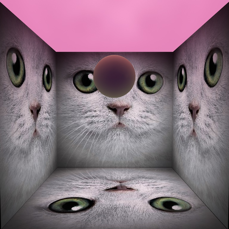 gergwerk decibel cube texture mockup of cats
