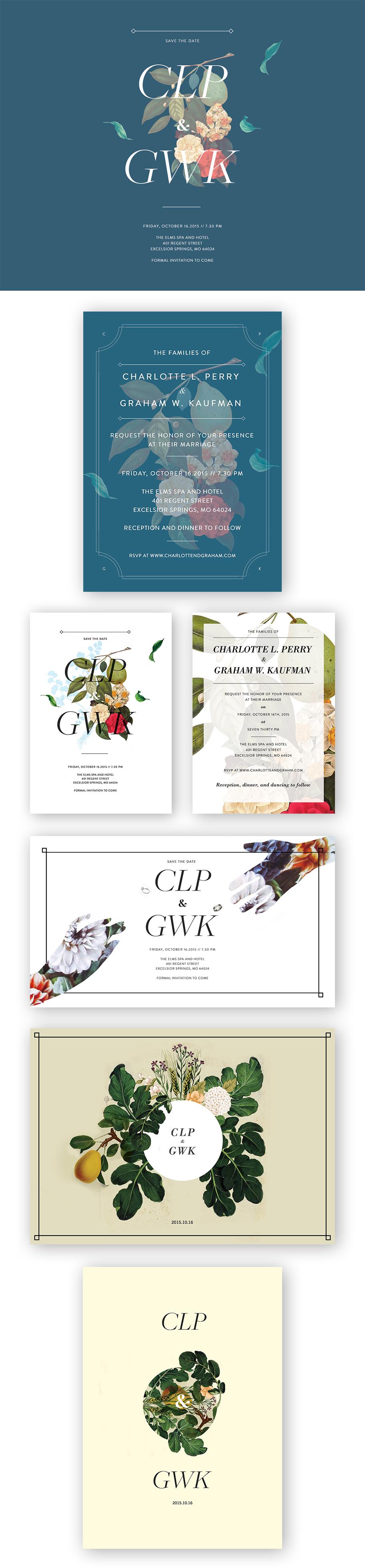 wedding invitation, save the date, wedding stationery design