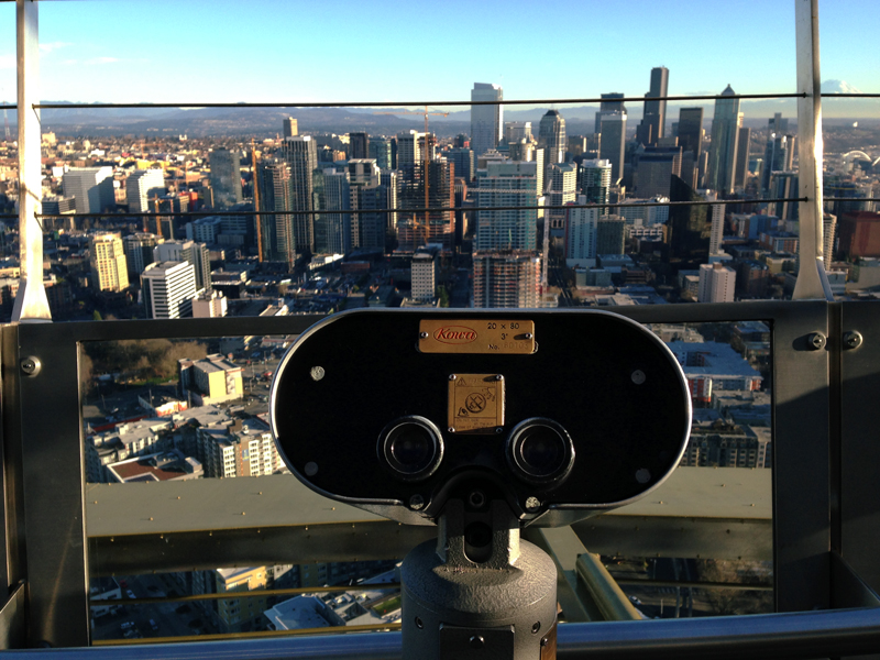 binoculars on top of space needle
