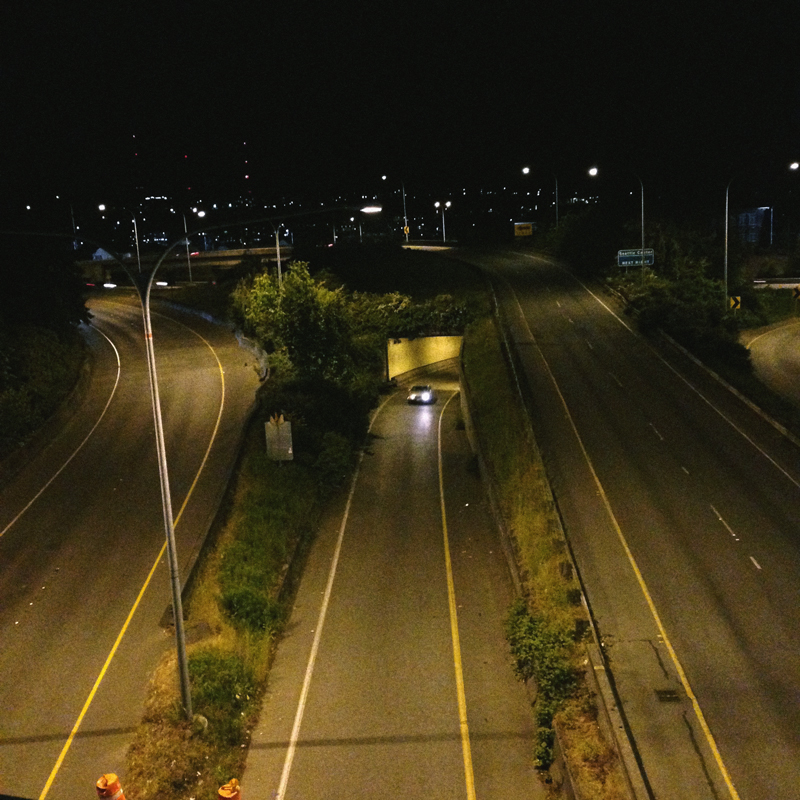 highway at nightime