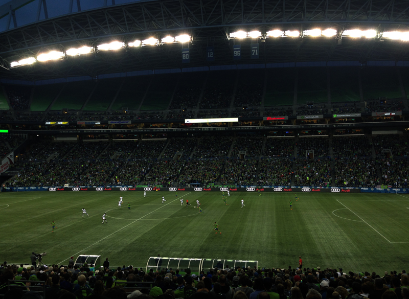 MLS Sounders game vs Kansas City