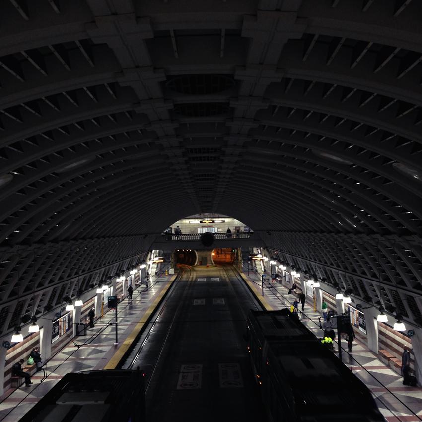 Pioneer square underground lightrail station
