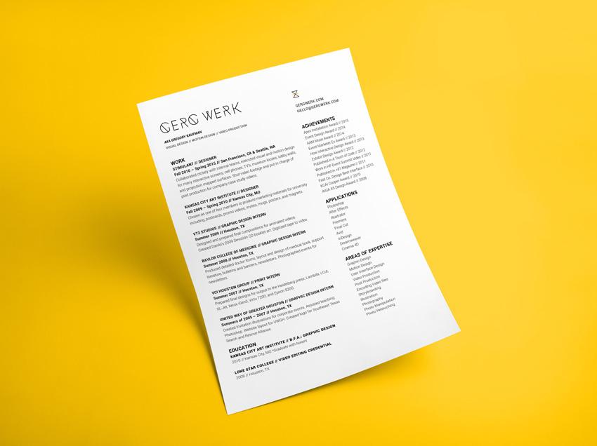 Gerg Werk Resume