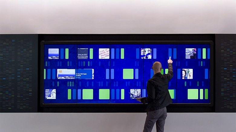 Genentech Interactive Lobby Display